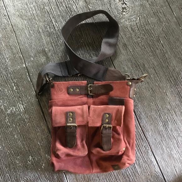 Anthropologie Mo & Co Suede Crossbody Bag